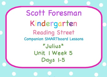 Kindergarten Reading Street SMARTboard Companion U1W5 Julius
