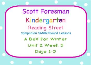 Kindergarten Reading Street SMARTboard Companion Unit 2 Week 5 A Bed for Winter