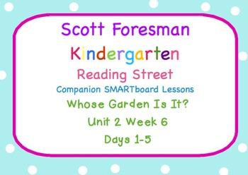Kindergarten Reading Street SMARTboard Companion Unit 2 Week 6 Whose Garden...