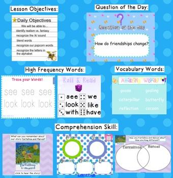 Kindergarten Reading Street SMARTboard Companion Unit 3 W4- Farfallina & Marcel