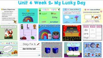 Kindergarten Reading Street SMARTboard Companion- Unit 4 Week 2 My Lucky Day