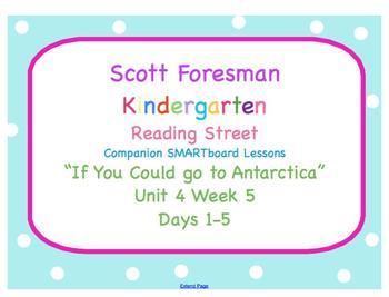 Kindergarten Reading Street SMARTboard Companion- Unit 4 Week 5 Antarctica