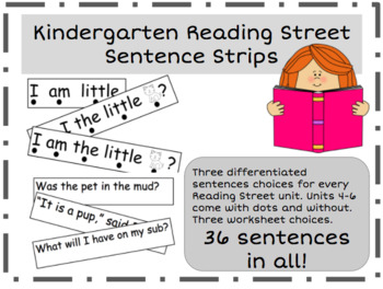 Kindergarten Reading Street Sentence Strips