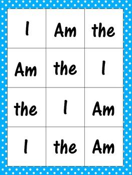 Kindergarten Reading Street Sight Word Practice
