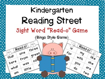 Reading Street Kindergarten Sight Word Read-o Game