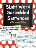 Kindergarten Sight Word Scrambles Mini Book