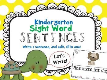 Kindergarten Sight Word Sentence Mini Books