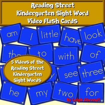 Reading Street Kindergarten Sight Word Video Flash Cards