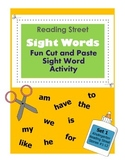 Kindergarten Reading Street Sight Words / Fun Cut & Paste Activity / Set 1