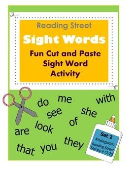 Kindergarten Reading Street Sight Words / Fun Cut & Paste