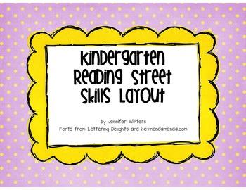 Kindergarten Reading Street Skills Layout
