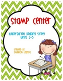 Kindergarten Reading Street Stamp Center Units 2-5