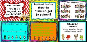Kindergarten Reading Street The Little School Bus Day 5 Flipchart