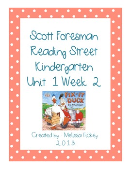 Kindergarten Reading Street Unit 1