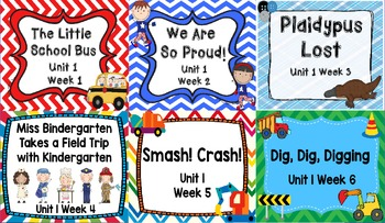 Kindergarten Reading Street Unit 1 Flipchart Bundle