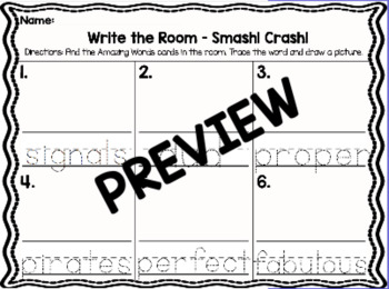 Kindergarten Reading Street Unit 1 Write the Room Bundle