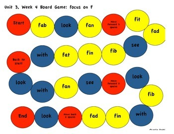 Kindergarten Reading Street Unit 3 Board Games
