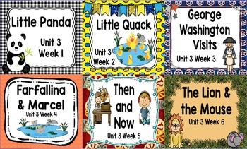 Kindergarten Reading Street Unit 3 Flipchart Bundle
