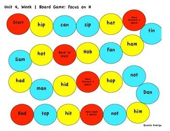 Kindergarten Reading Street Unit 4 Games