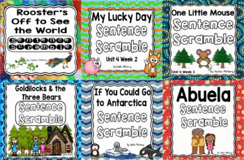 Kindergarten Reading Street: Unit 4 Sentence Scramble Bundle