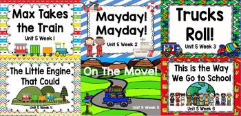 Kindergarten Reading Street Unit 5 Flipchart Bundle