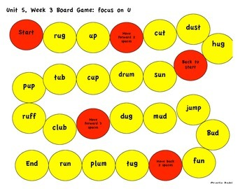 Kindergarten Reading Street Unit 5 Games