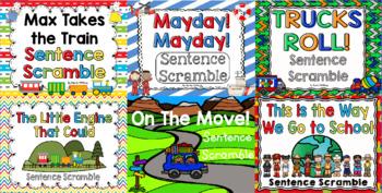Kindergarten Reading Street: Unit 5 Sentence Scramble Bundle