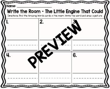Kindergarten Reading Street Unit 5 Write the Room Bundle