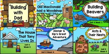 Kindergarten Reading Street Unit 6 Flipchart Bundle