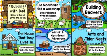 Kindergarten Reading Street Unit 6 Write the Room Bundle