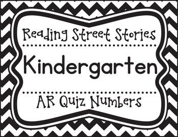 Kindergarten Reading Street Unit AR Quiz Posters