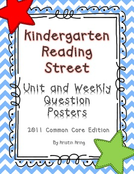 Kindergarten Reading Street Unit and Weekly Question Posters