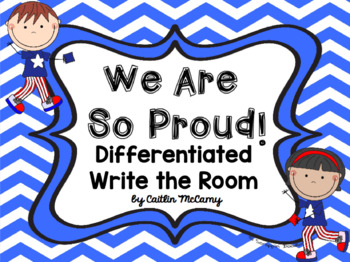 Kindergarten Reading Street: We Are So Proud! Write the Room
