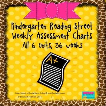 Kindergarten Reading Street Weekly Assessment Charts: ALL 6 UNITS