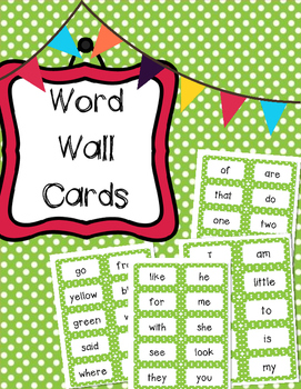Kindergarten Reading Street Word Wall Cards