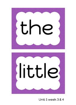 Kindergarten Reading Street Work Wall Cards
