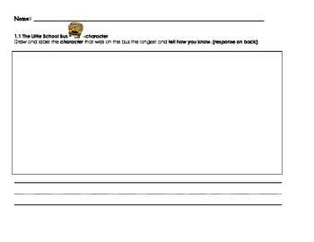 Kindergarten Reading Street Writing Prompts Unit 1-6