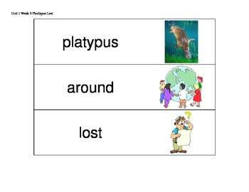 Kindergarten Reading Streets Amazing Word cards Unit 1