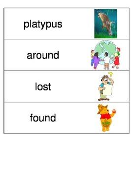 Kindergarten Reading Streets Amazing Word cards Unit 1 Week 3
