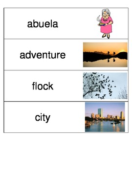 Kindergarten Reading Streets Amazing Word cards Unit 4 Week 6