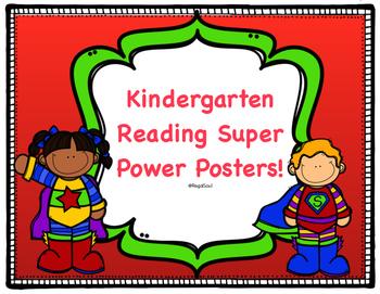 Kindergarten Reading Super Power Posters