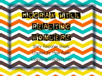Kindergarten-Reading Wonders-Big Book Response Sheets