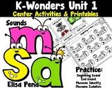 Kindergarten Reading Wonders Center Activities Unit 1