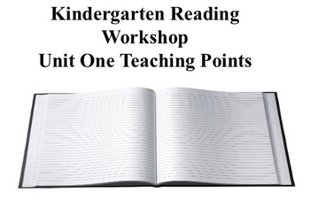 Kindergarten Reading Workshop Teaching Points