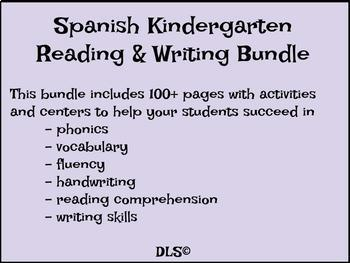 Kindergarten Reading & Writing Bundle in Spanish