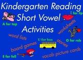 Kindergarten Reading / Writing Short Vowel CVC Word Games