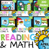 Kindergarten Reading and Math Bundle (April) Google Slides