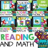 Kindergarten Reading and Math Bundle (May) Google Slides G