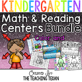 Kindergarten Reading and Math Games BUNDLE