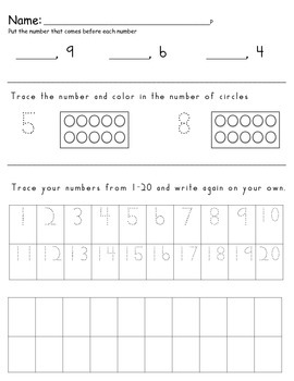 Kindergarten Reading and Math Practice